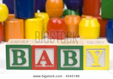 Wooden Blocsks Spelling Baby
