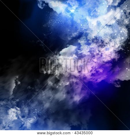 Cosmic clouds of mist