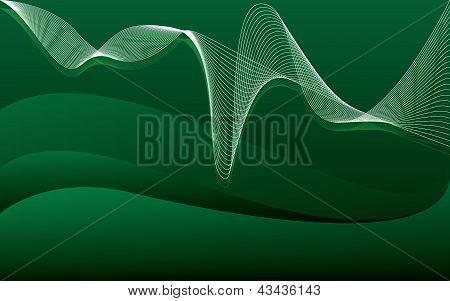 Green Wallpaper Music Waves