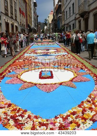 Corpus Cristi flower carpets in Tenerife, Canary Islands