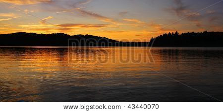 Beautiful Sunset On Lake