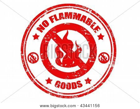 No Flammable Grunge Stamp