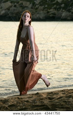 Young woman at beach