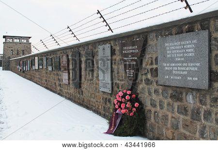 MAUTHAUSEN, AUSTRIA: 2012. Mauthausen Holocaust Memorial; Mauthausen Concentration Camp