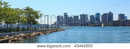 Boston Skyline From East Boston, Massachusetts