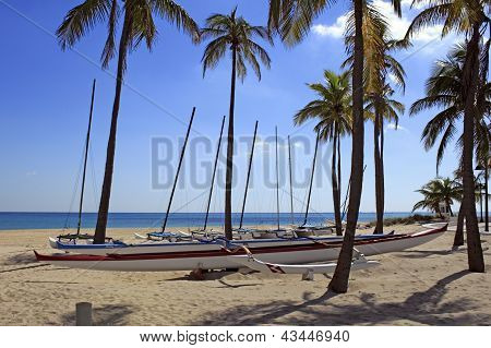 Outrigger canoa aluguel Fort Lauderdale Beach