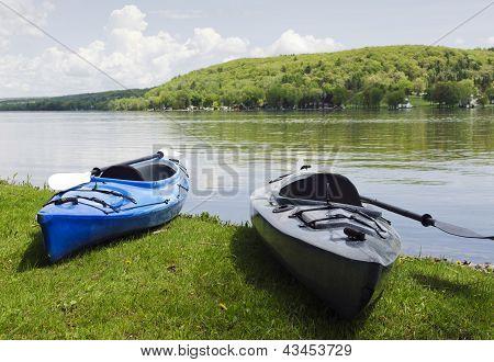Kayak On The Shoreline