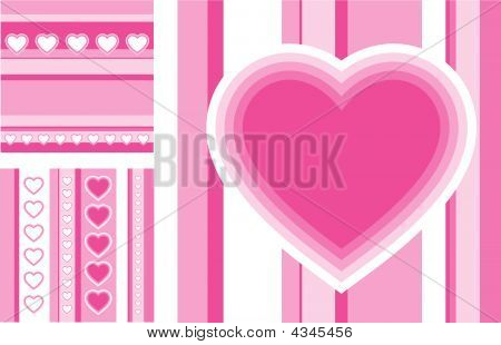 Vector Greeting Cards For St. Valentine's Day
