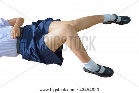 School-girl Body Isolation