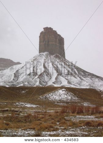 Chimney Rock Snow 2