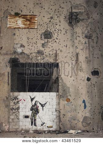 Mural In Beirut Lebanon