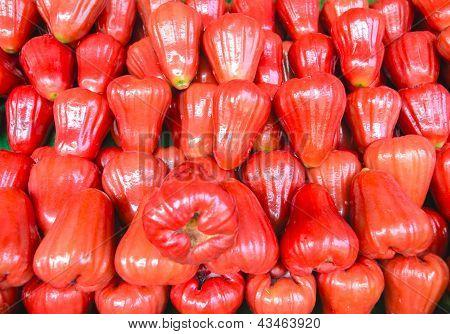 Fresh Red Rose Apple Fruit