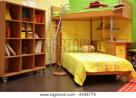 Children Room With Double Bed