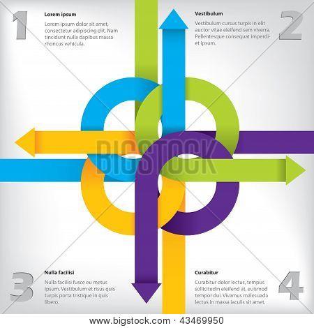 Diseño de la infografía con opciones y detalles
