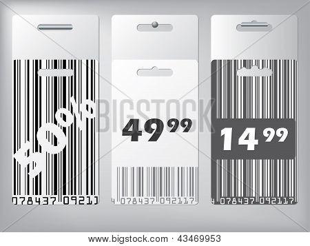 Bar Code Design Labels Hanging