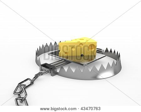 Piece Of Cheese - A Bait In A Trap