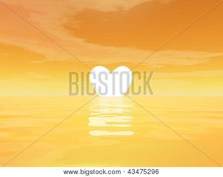Love Sunset - 3D Render