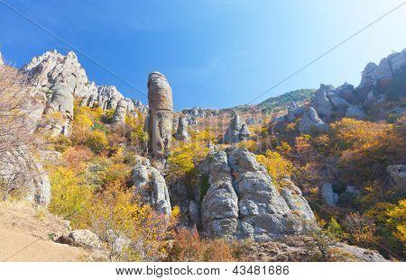 Autumn mountain. Ghost Valley, Demerdji, Crimea, Ukraine