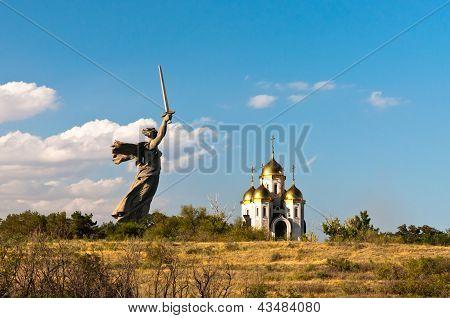 Motherland calls monument