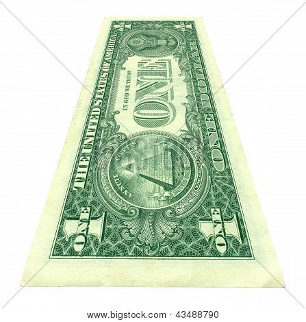 One Dollar Bill At An Angle