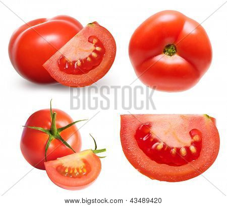 Red tomato isolated.