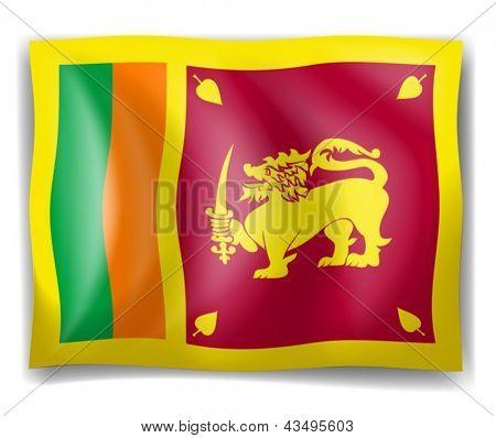 Illustration of the flag of Sri Lanka on a white background