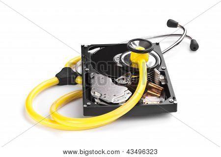 Disco duro y Sthetoscope