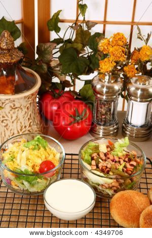 Salads And Creamy Dressing