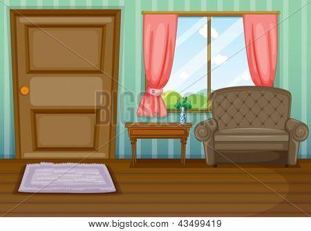 Abbildung von innen Ansehen des Hauses