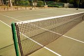 Tennis Court At Camp Ready To Be Used