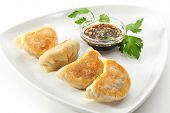 stock photo of chinese parsley  - Fried Dumpling  - JPG