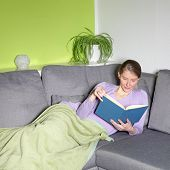 Attractive Mature Woman Reading A Book