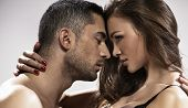 stock photo of intimacy  - Temptiting couple - JPG