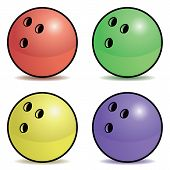 Bowling ball set