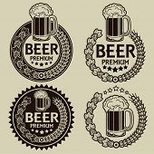 stock photo of special occasion  - Retro Styled Beer Seals  - JPG