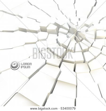 Cracked background. Vector illustration.