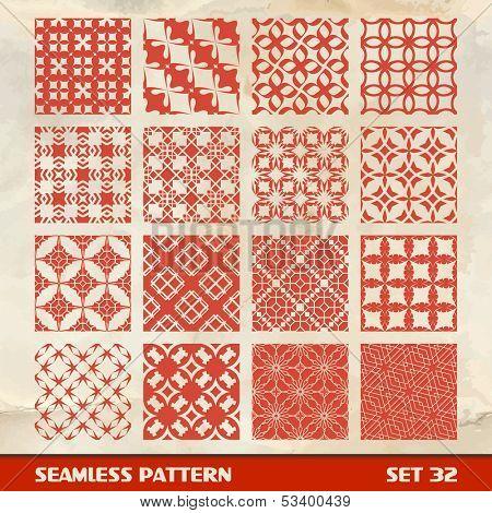 Seamless vintage pattern.  Vector illustration.