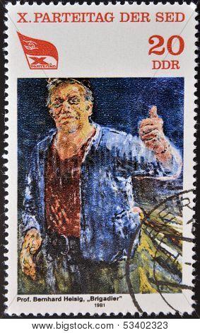 GERMANY- CIRCA 1981: stamp printed in Germany shows Brigadier by Bernhard Heising