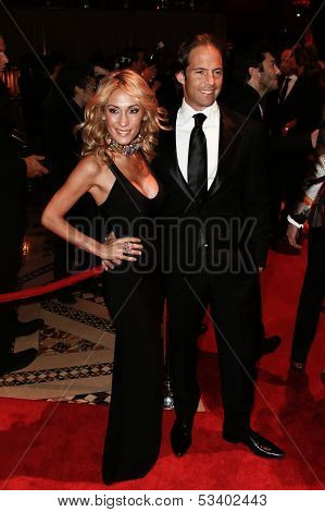 NEW YORK-SEP 17: Michael Shvo, president of SHVO Marketing (R) and wife Sheren attend the 14th annual New Yorkers For Children Fall Gala at Cipriani 42nd Street on September 17, 2013 in New York City
