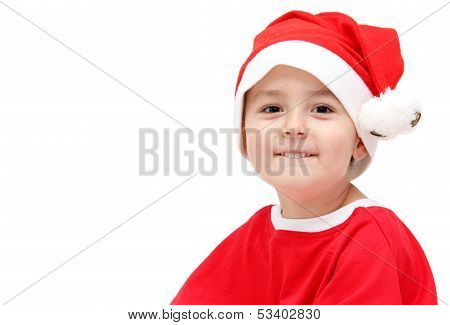 Child In Santa Claus Hat