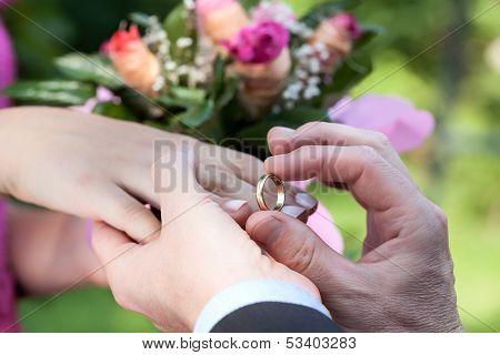 Wedding Ring Putting