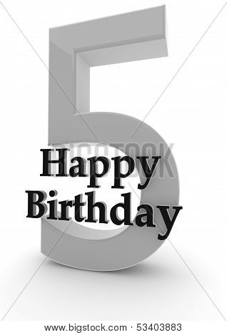 Happy Birthday For 5Th Birthday
