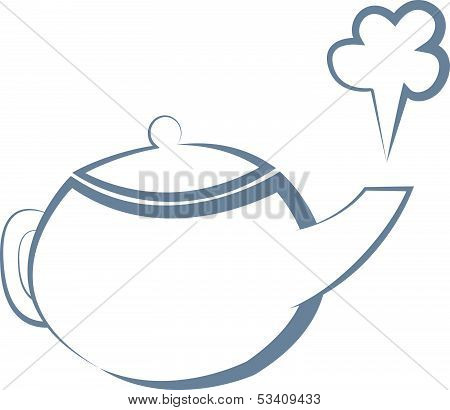Boiling Kettle. Vector Illustration
