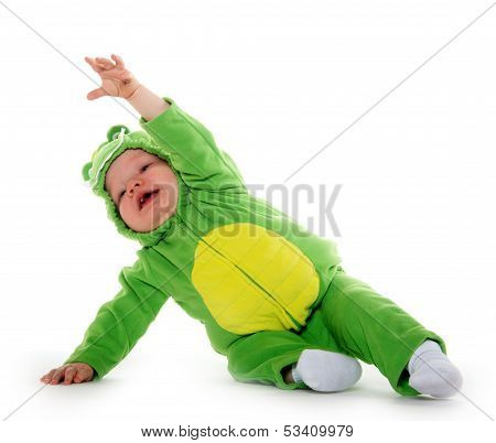 Baby Boy In Dragon Costume