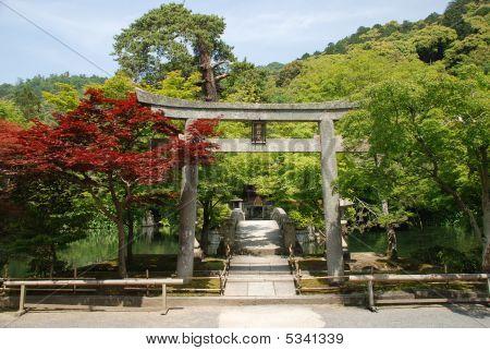 Torii At Eikando Temple