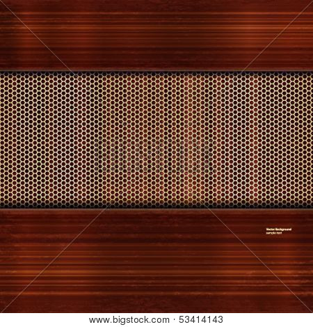 Vector background with wooden and reticulated elements.