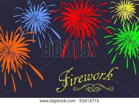 Abstract festive fireworks background. Vector illustration
