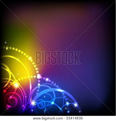 Abstract colorful lights background. EPS 10.