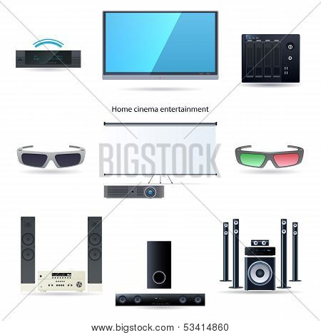 Home cinema entertainment set