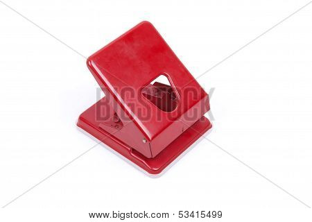 Office Puncher On White Background